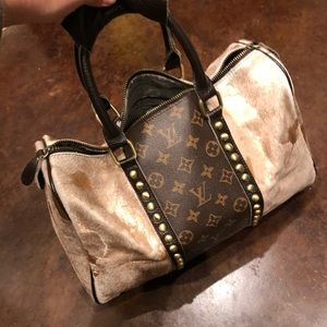 Recycled LV & Rose Gold Hand Bag